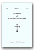"JCR: Vol. 2, No. 1, ""Symposium on Christian Economics"""