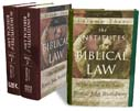 Institutes of Biblical Law Three-Volume Set, The
